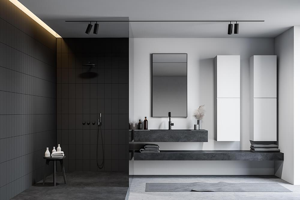 Matte Tiles Bathroom