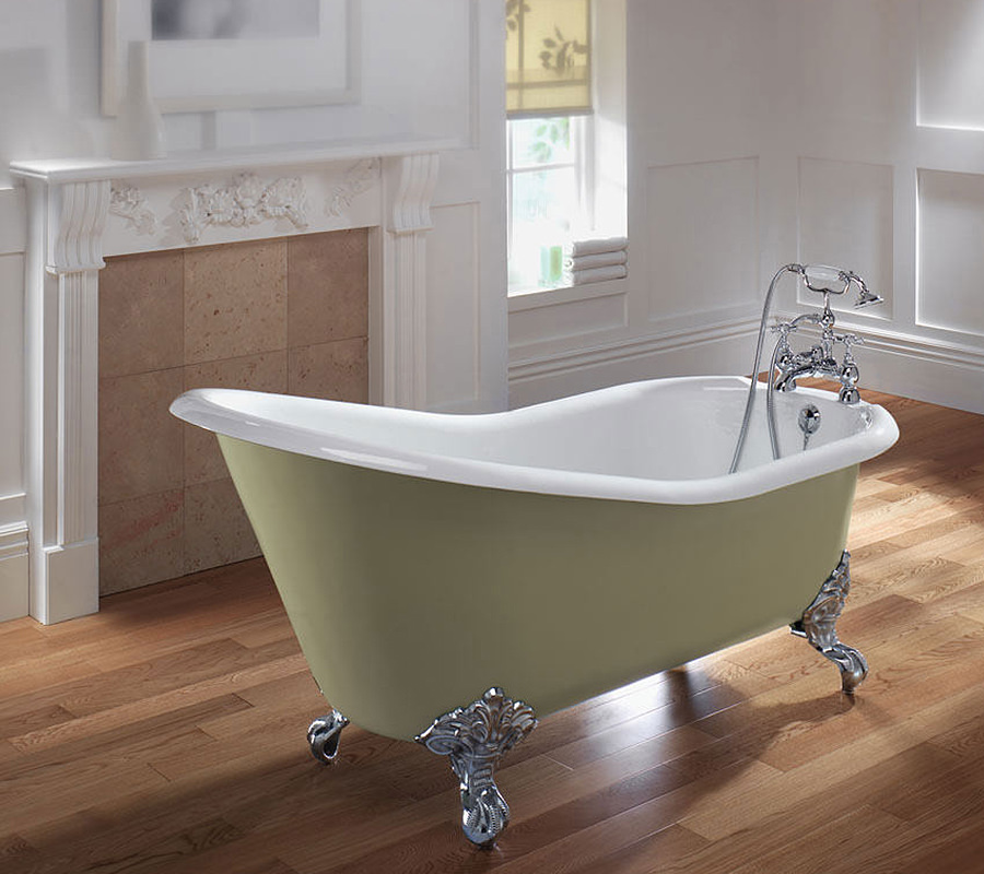 Save on space with a slipper bath