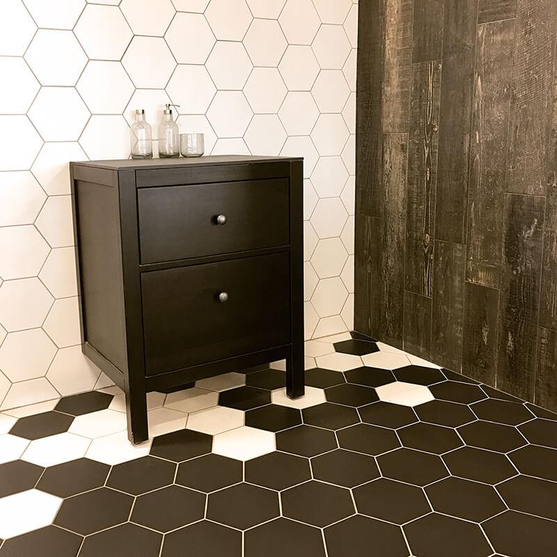Geometric Tiles Bathroom