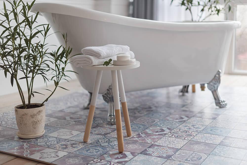 Reclaimed Antique Tiles Bathroom