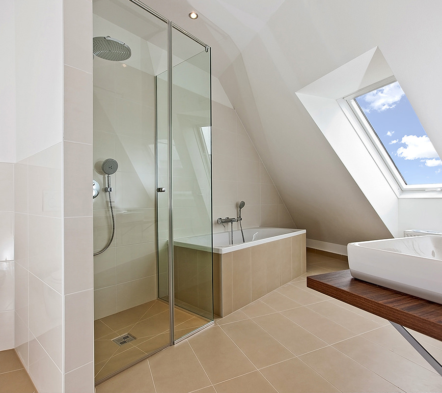 Use corners and sloped ceilings