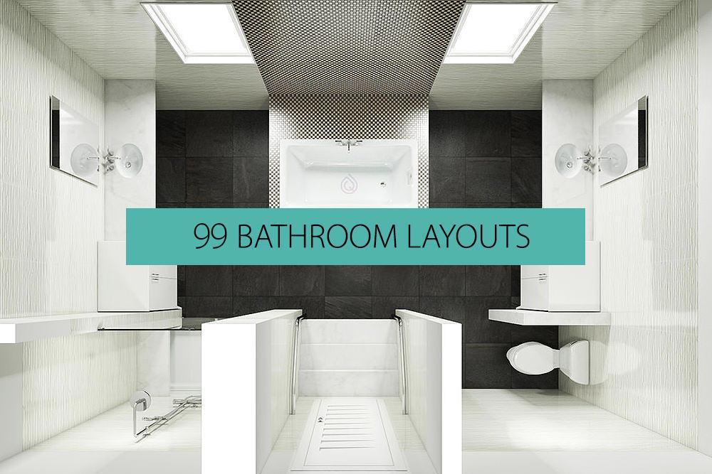 99 Bathroom Layouts - Plans & Ideas