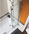 Beo Square 1700 x 850mm Right Hand Shower Bath small Image 4