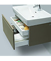 Laufen Pro 1220mm 2 Drawer Vanity Unit Wenge With 2 Interior Drawer small Image 4