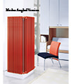 DQ Heating Modus 5 Column White Radiator 2200mm High - 4 To 44 Sections small Image 4