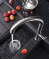 Crosswater Cucina Tube Stainless Steel Round Tall Kitchen Sink Mixer Tap small Image 4