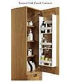 Miller London Black Cabinet With Single Storage Door 400 x 1111mm small Image 4