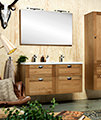 Miller London 120 Natural Oak Four Drawer Wall Hung Vanity Body small Image 4