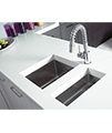 Astracast Onyx 4016 Half Bowl Brushed Stainless Steel Flush Inset Sink small Image 4