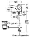 Armitage Shanks Sandringham 21 Dual Control Basin Mixer Tap small Image 4