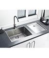 Astracast Onyx 4034 Brushed Stainless Steel Flush Inset Drainer small Image 4
