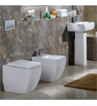 RAK Metropolitan Back To Wall WC Pan With Soft-Close Seat 525mm small Image 4