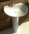 RAK Reserva 1 Tap Hole Basin With Full Pedestal 550mm - RES55BAS1 small Image 4