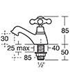 Ideal Standard Kingston Pair Of Basin Taps - E6045AA - Thumb Image 2