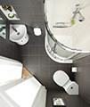 Ideal Standard Concept Arc 45cm 1 TH Corner Handrinse Basin - E792801 small Image 4