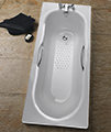 Twyford Celtic Plain Steel 2 Tap Hole Bath With Legs small Image 4