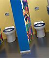 Twyford Sola School Rimless 350 Back-To-Wall WC Pan - SA1514WH small Image 4