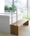Duravit Blue Moon 1400mm Square Bath With Support Frame small Image 4