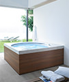 Duravit Blue Moon 1400 x 1400mm Built In Or For Panel Bath With Frame small Image 4