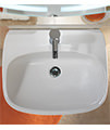 Twyford Moda 1 Centre Tap Hole Washbasin 550 x 450mm - MD4231WH - Thumb Image 5