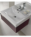 Twyford 3D Washbasin And Plum Vanity Unit 1 Drawer 600mm small Image 4