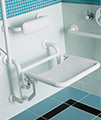 Twyford Avalon Folding Shower Seat With Back Support Doc.M Compliant White small Image 4