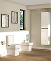 Pura Dekka Close Coupled WC Bowl With Cistern And Soft Close Seat 610mm small Image 4