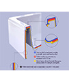 Pura Bloque 1700 x 700mm Single Ended Bath - PBBQSE17X7 small Image 4
