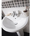 Beo Capital 550mm 1 Tap Hole Basin And Full Pedestal small Image 4
