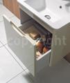 Bauhaus Solo 500mm Single Drawer Wall Hung Basin Unit White Gloss small Image 4
