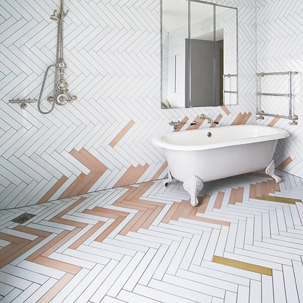 Colour Accents And Feature Tiles Bathroom