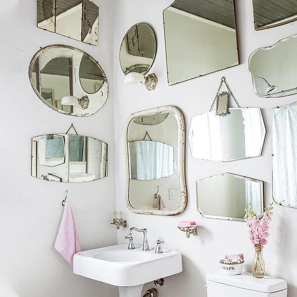 Build a mirror gallery wall