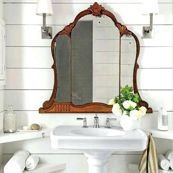 Semi Circle Backlit Bathroom Mirror