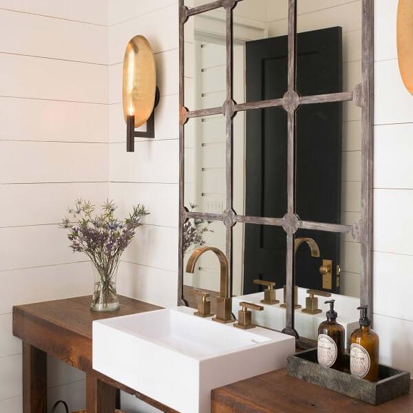 Antique Windowpane mirror