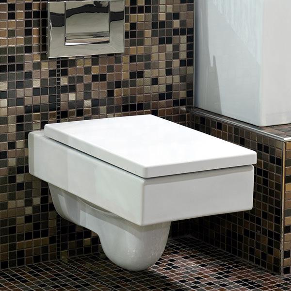squared toilet seat