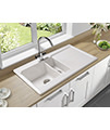 Astracast Equinox 1.5 Bowl White Ceramic Inset Kitchen Sink small Image 4