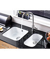 Astracast Lincoln 2540 0.5 Bowl Ceramic Gloss White Undermount Sink small Image 4