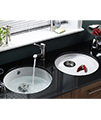 Astracast Lincoln R1 460mm Round Bowl Ceramic Inset Or Undermount Sink small Image 4