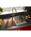 Astracast Onyx 4070 2.0 Bowl Brushed Stainless Steel Flush Inset Sink small Image 4