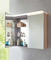 Duravit X-Large 1000mm 2 Door Mirror Cabinet With LED Lighting small Image 4