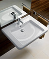 Twyford All 600 x 550mm 1 Tap Hole Washbasin With Semi Pedestal small Image 4