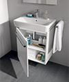Twyford E200 550mm White Unit For 600mm 1 Or 2 Tap Hole Basin small Image 4