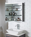 Roper Rhodes Virtue 505mm Charcoal Elm LED Illuminated Mirror Cabinet small Image 4