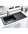 Astracast Geo 1.0 Bowl Composite ROK Metallic Inset Sink And Accessories small Image 4