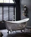 Heritage Lyddington FS Stainless Steel Effect Acrylic Bath With Feet 1730mm small Image 4