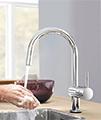 Grohe Minta Chrome Monobloc Kitchen Sink Mixer Tap With Swivel Tubular Spout small Image 4