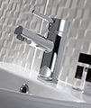 Twyford X60 Mono Basin Mixer Tap With Click Clack Waste small Image 4