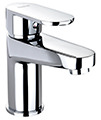Twyford X70 Mono Basin Mixer Tap With Click Clack Waste small Image 4