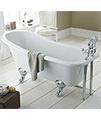 Beo Yearn 1700 x 730mm Freestanding Acrylic Bath With Corbel Legs small Image 4