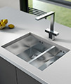 1810 Company Versare Square Design Chrome Kitchen Sink Mixer Tap small Image 4